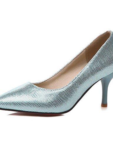 WSS 2016 Chaussures Femme-Extérieure / Bureau & Travail / Habillé-Bleu / Argent / Or-Talon Aiguille-Talons / Confort / Bout Pointu-Talons- silver-us10.5 / eu42 / uk8.5 / cn43