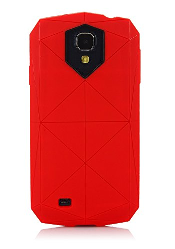 ImagineDesign™ Military-Grade Tough Hybrid Stealth Armour Series Shockproof Rugged Back Case Cover for Samsung Galaxy S4 I9500 - Crimson Red