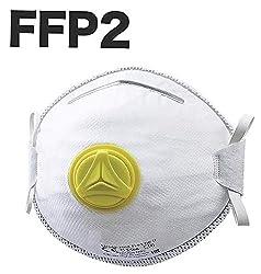 12x Atemschutzmaske FFP2 mit Ventil, Maske Atemschutz Mundmaske Mundschutz Atemschutzmaske zur Prophylaxe...