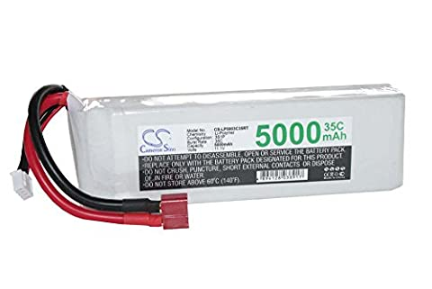 RC Model building battery Li-Polymer LiPo 5000mAh 11.1V for diverse Racing Cars, Helicopter, Aeroplanes und Model boats etc.