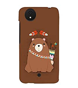 Warrior Bear 3D Hard Polycarbonate Designer Back Case Cover for Micromax Canvas Android A1 AQ4501 :: Micromax Canvas Android A1