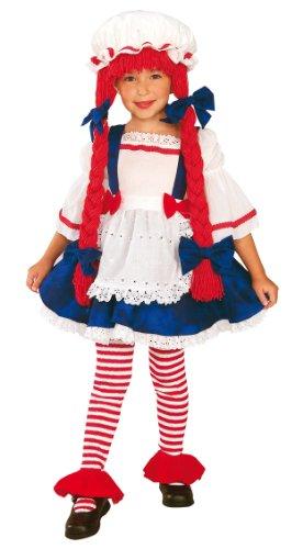 Kinder Kostüm Stoffpuppe Dolly Spielzeug Halloween Outfit (Kostüm Kind Rag Doll)