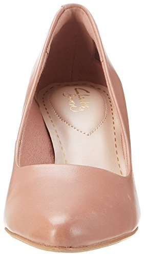 Clarks Isidora Faye, Escarpins Femme Rose (Dusty Pink Leather)