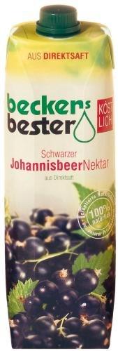 Becker's Bester Schwarze Johannisbeer, 6er Pack (6 x 1 l Packung)