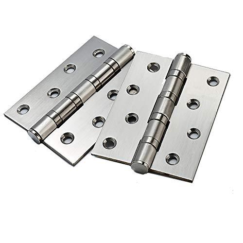 4Confezioni Porta Cerniere, 100mm Cuscinetto A Sfera Cardini per porta in acciaio inox cerniere, 3mm Spessore