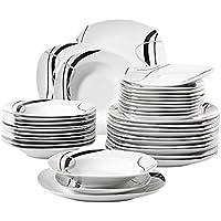 bd1003b5939f39 Veweet FIONA 36pcs Assiettes Pocelaine Service de Table 12pcs Assiettes  Plates 24,7cm, 12pcs