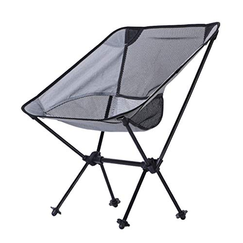 Nowear Outdoor Folding Camp Moon Chair Strand Angeln Hocker Compact tragbare Netz Rücken Aluminium-Rucksack -