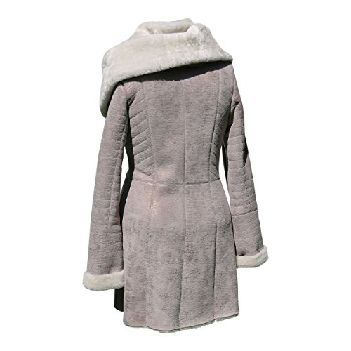 Lammfelljacke - IRMA Damen Jacke Felljacke Winterjacke Lederjacke Merino Fell Size L, Color Beige - 2