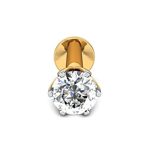Candere By Kalyan Jewellers 18k Yellow Gold and Diamond Nosepin