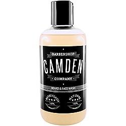 Camden Barbershop Company: Natürliches 2-in-1 Bartshampoo, für die tägliche Gesichts- und Bartpflege, paraben- & sulfatfrei (1x 250ml)