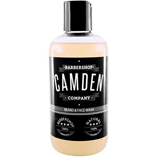 Camden Barbershop Company: Savon & Shampoing naturel 2-en-1 pour les soins quotidiens de la barbe et du visage, shampooing sans parabènes & sulfates (1 x 250 ml)
