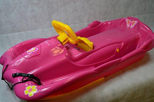 Alpenspace Girls Only Pink 100x54x28 cm Mädchenbob Bob Lenkbob Lenkrodel Lenkschlitten Schlitten