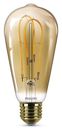 Philips LEDclassic Lampe Gold, Vintage Retro-Design ersetzt 25W, E27, Flame (2000 Kelvin), 250 Lumen, Globe, Dekolampe