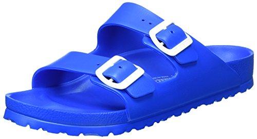 footprints birkenstock BIRKENSTOCK Unisex-Erwachsene Arizona Eva Pantoletten, Blau (Scuba Blue), 45 EU