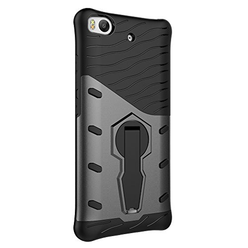 Für Xiaomi 5s Fall Neue Rüstung Tough Style Hybrid Dual Layer Rüstung Defender Soft TPU / PC Back Cover Fall Mit 360 ° Stand [Shockproof Case] ( Color : Blue ) Black