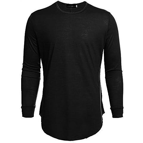 ShenLiNan Men's Crew Neck Cotton Long Sleeve T-Shirt