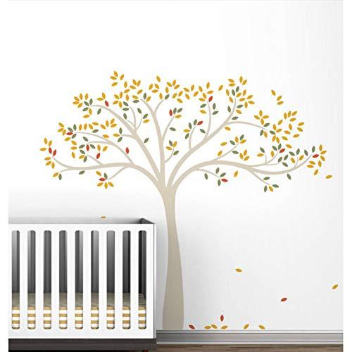 GUDOJK Wandaufkleber Frühling Herbst Baum Erweiterte Wandtattoos Für Kinder Baby Kinderzimmer Wanddekor Wandaufkleber Kunstwandhauptdekor (Frisur Erweiterte)