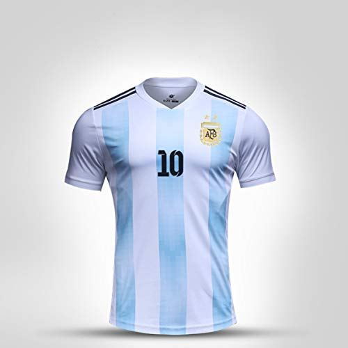 Balapig Argentinien Trikot Fußball-WM-Bekleidung Fußball-WM-Anzug Anzug für Männer Fußball-Trainingsanzug Fans Uniform Fußball-Trainingsanzug Atmungsaktives Sweatshirt,S (Home Rugby Argentinien Shirt)