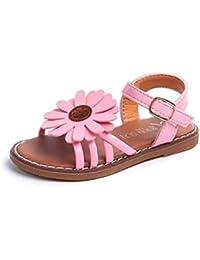 SOMESUN Neonate Sandali Flower Roman Sandals Princess Shoes Estivi per  Bambina Roma Scarpe da Principessa Bambino Fondo… c940eb91926