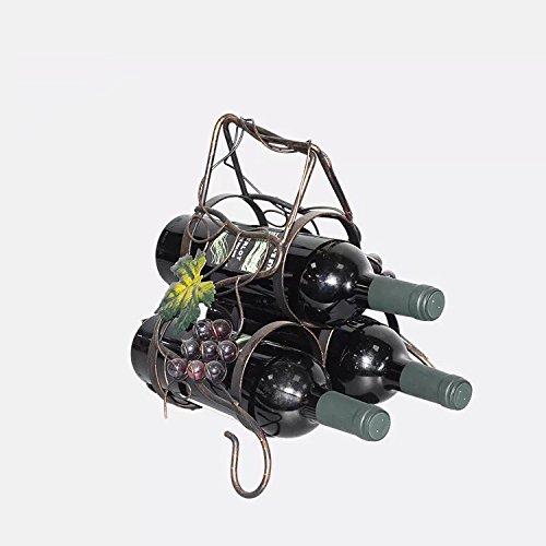 isasar Wein Display und Storage Rack Wandhalterung Weinregal für Magnum und Champagner Flaschen Style 1