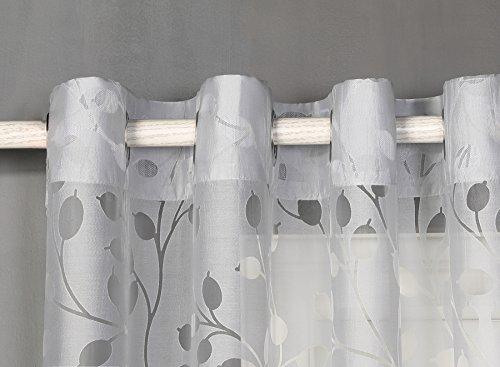 Cortina translucida 8 ollao 140x260 salón, habitación