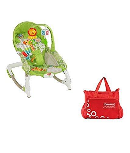 Fisher-Price Newborn To Toddler Rocker Worldwide + Diaper Bag