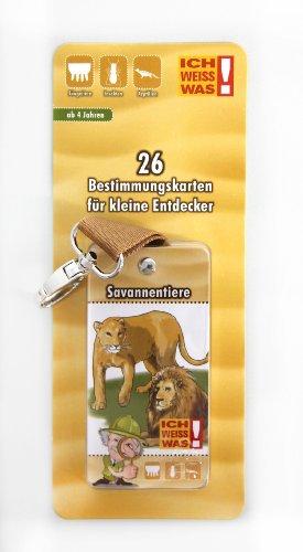 Preisvergleich Produktbild Albert E. - Bestimmungsblock mit Karabinerhaken | Savannentiere