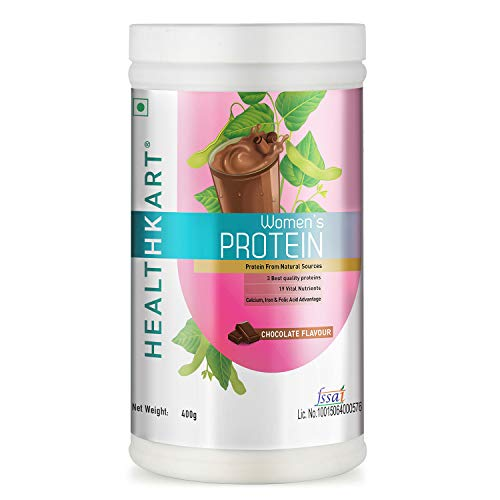 Healthkart Women's Protein with Calcium, Iron & DHA, Chocolate, 400g