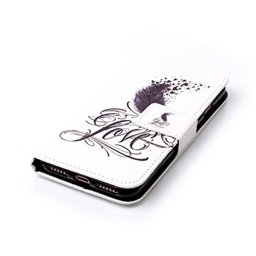 Coque Etui pour iPhone 7,Coque Portefeuille PU Cuir Etui pour iPhone 7,Flip Protective Cover Leather Wallet Case pour iPhone 7,iPhone 7 Coque Fille,Coque Fleur Etui pour iPhone 7,EMAXELERS iPhone 7 4. Girl 4