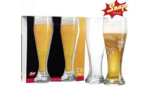Snap by R & B Weizenbierglas ´4All´, 0,69 l, Sie erhalten 1 Packung, Packungsinhalt: 2 Stück