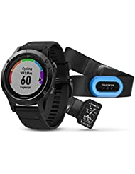 Garmin fenix 5 Saphir GPS Uhr Performer Bundle / Premium HRM-Tri Brustgurt + QuickFit black 2017 Funktionsuhr