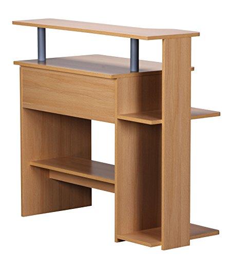 ... Wohnling Computertisch Dennis Buche Mit Tastaturauszug, Laptop Tisch  Ohne Rollen Mit Aufsatz, ...