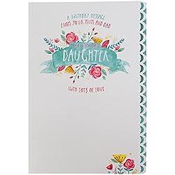 """Hallmark Geburtstagskarte für Tochter""""Cherished Memories"""", englischer Text, Groß, M"""
