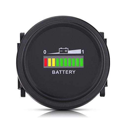 Preisvergleich Produktbild Keenso Led Digital Batterieanzeige Meteranzeige für Golfwagen mit Stundenzähler mit Lcd Led-anzeige