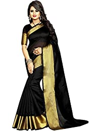Sarees For Women's Multi-coloured Saree New Collection Cotton Silk Sarees For Women Party Wear Sarees With Blouse...