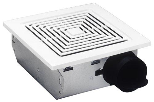 Broan 688Deckenleuchte und Wandhalterung Fan, 50CFM 4.0Sone, weiß Kunststoff Gitter