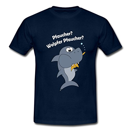Taucher Lustig Männer T-Shirt von Spreadshirt®, M, Navy