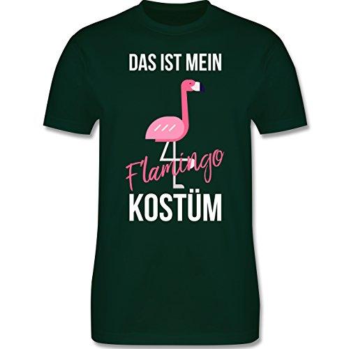 Shirtracer Karneval & Fasching - Das ist Mein Flamingo Kostüm - Herren T-Shirt Rundhals Dunkelgrün