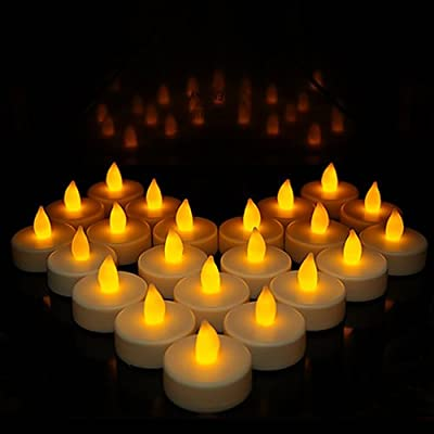 Flameless Candles, LED Tea Light Candles with Battery-Powered Wedding Candles Decorations for Parties Events Tealight Candles (24 Pack) by IB-SOUND