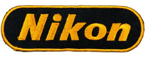 Preisvergleich Produktbild Aufnäher nikon patches Logo Embroidered Iron On Appliques Patches