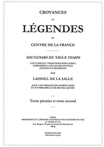 Croyances et légendes du centre de la France par Germain Laisnel De La Salle