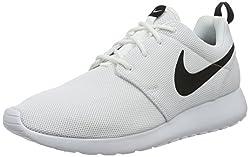 Nike Damen W Roshe One Laufschuhe, Weiß (White/White-Black), 42 EU