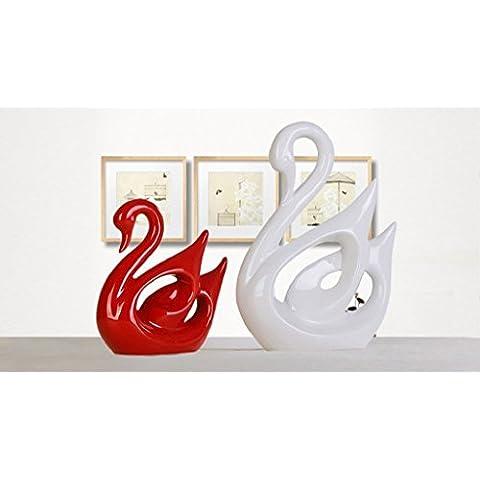 la moderna casa europea due coppie di sposi matrimonio matrimonio swan swan decorazioni in ceramica
