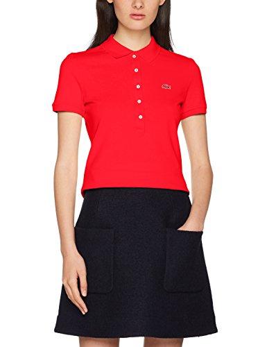 Lacoste Damen Poloshirt PF7845, Rot (Toreador PRL), 38(Herstellergröße: 40)