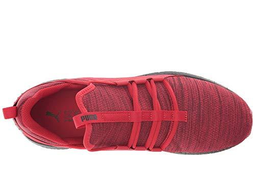 PUMA Men s Mega Nrgy Heather Knit Ribbon Red Black 11 D US D  M