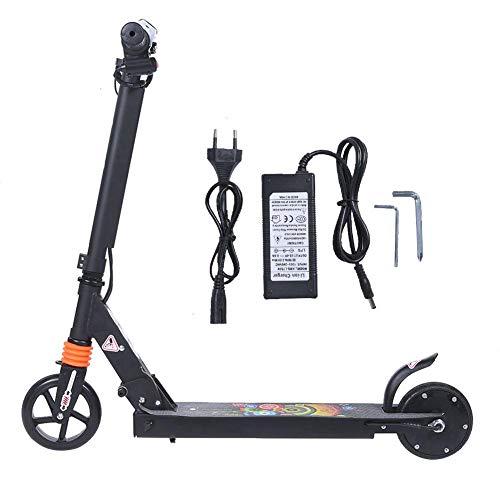 """Roller, Tragbarer Aluminiumlegierungs schwarzer elektrischer Roller mit Zwei 5,5"""" explosionssicheren Rädern, Faltender Trick-Roller Am besten für Kinder und Erwachsene, Outdoor Miniroller(EU)"""