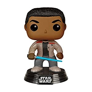 Funko FK 6422 POP Star Wars The Force despierta Finn sable de luz con la figura de vinilo 10 cm