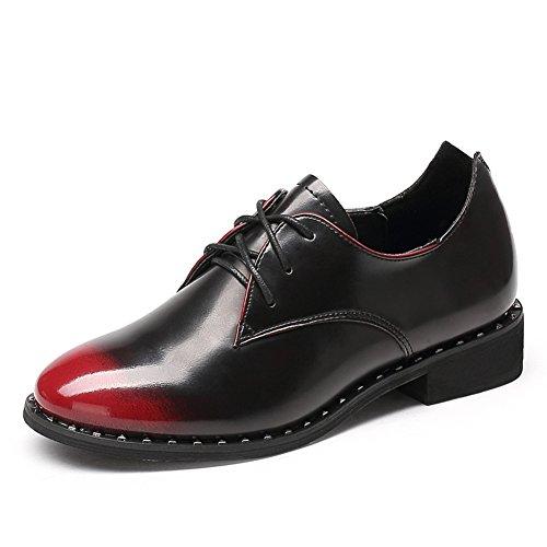 Profonde rugueuse avec des chaussures à l'automne/ chaussures basses femme avec rivet/Chaussures occasionnelles de dentelle/Chaussures femme A
