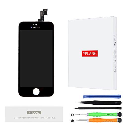 iPhone SE LCD Display Schwarz, YPLANG Bildschirm Ersatz Reperaturset Touchscreen Wechseln Digitizer Assembly Werkzeuge (5c-screen-ersatz)
