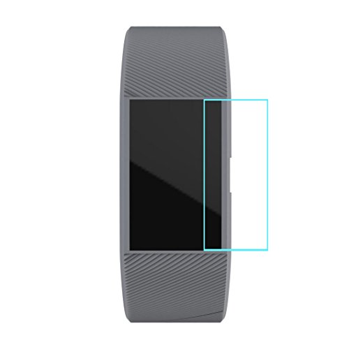 High Definition Ultra Clear Displayschutzfolie + Armband für Fitbit Charge 2 Fitbit Charge 2 Uhr HD Film + Twillgurt Wristband HKFV (Grau)